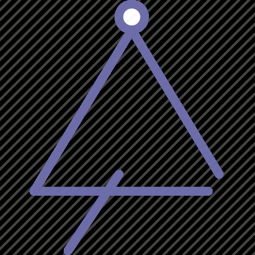 instument, music, triangle icon
