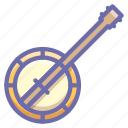 banjo, instrument, music icon