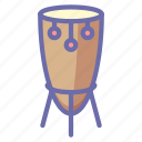 african, drum, instrument icon