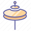 cymbals, drum, instrument icon