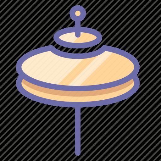 cymbals, drum, instrument icon