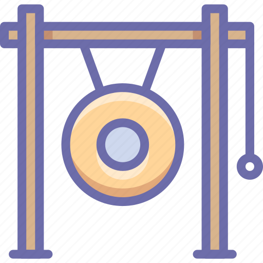 gong, instrument, music icon