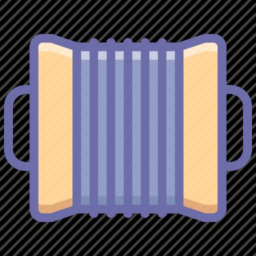 accordion, audio, instrument icon