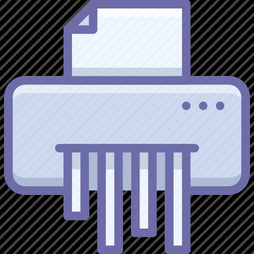 device, paper, shredder icon
