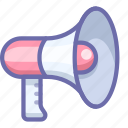 advertise, loud, megaphone, promote, speaker, talk icon