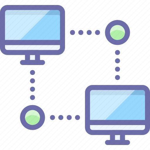 network, ping, workstation icon