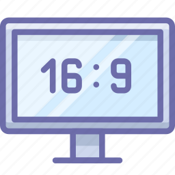 aspect, channel, hd, ratio, television, tv, wide icon