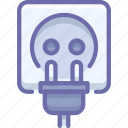 cord, electric, plug icon