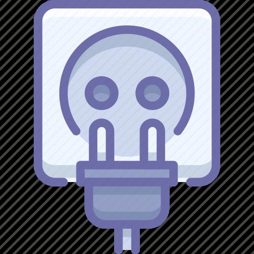 cord, electric, plug icon