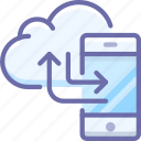 backup, cloud, smartphone icon
