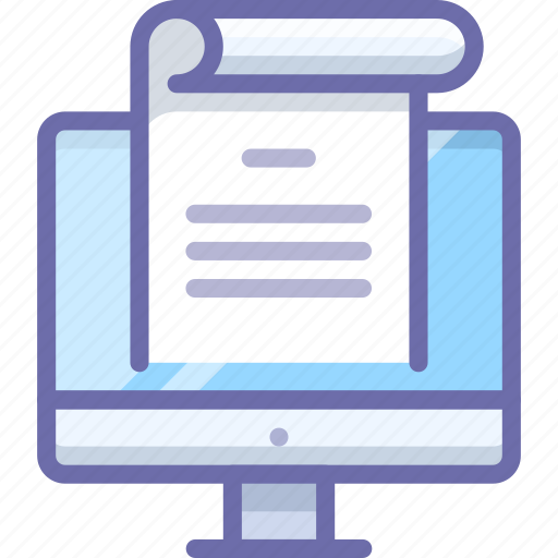 computer, document, office icon