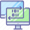 computer, data, sync icon