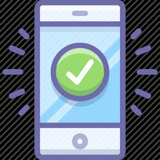complete, mobile icon