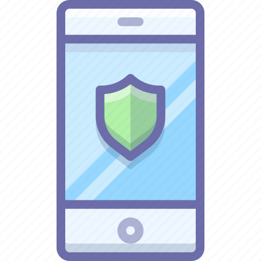 security, shield, smartphone icon