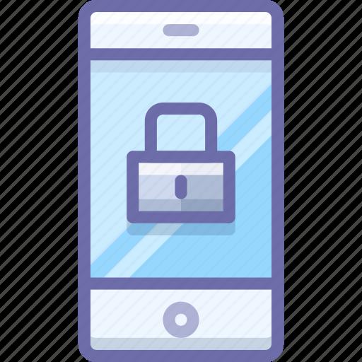 encryption, lock, mobile icon
