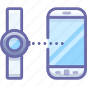 android, connect, connection, data, smart, smartphone, transfer, watch icon