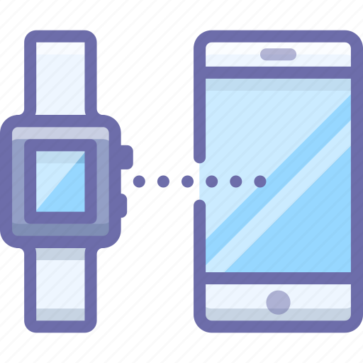 connect, smart watch, smartphone icon