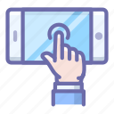 gesture, hand, mobile, phone, screen, touch, work icon