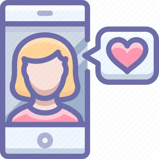 app, female, like, love, match, phone, woman icon