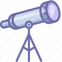 astronomy, explore, sky, space, stars, telescope, watch icon