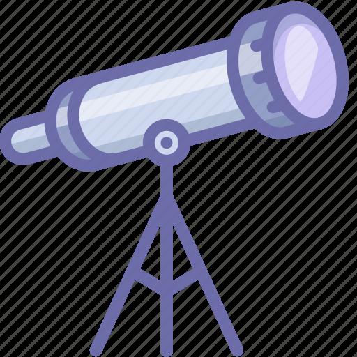 Telescope, astronomy icon