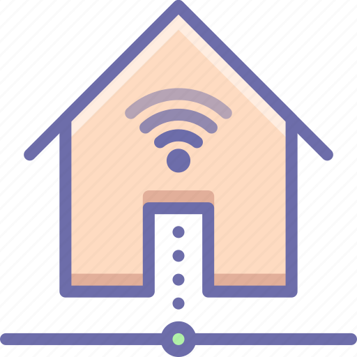 network, smart house, wifi icon