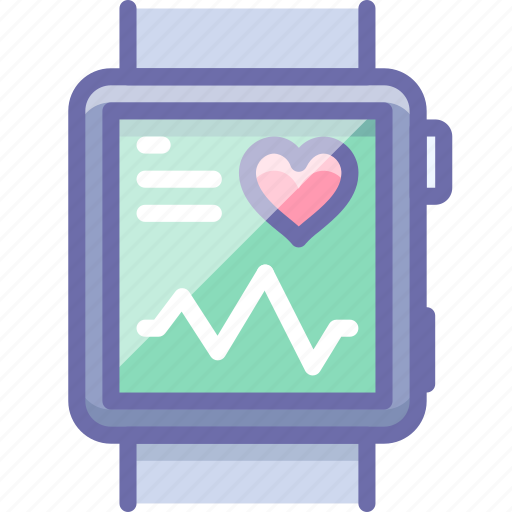 fitband, health, monitor, watch icon