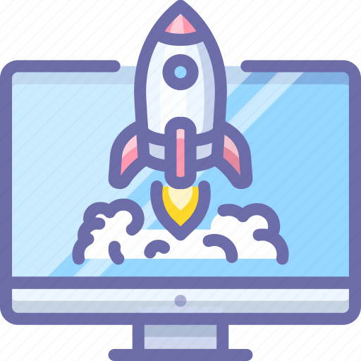 Rocket, computer, startup icon - Download on Iconfinder