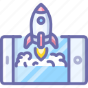 app, mobile, rocket, start icon
