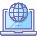 globe, laptop, web icon