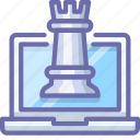 chess, laptop, strategy icon