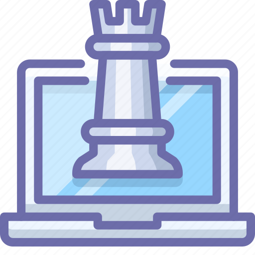 chess, laptop, strategy icon