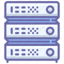 data, database, hosting, rack, server icon