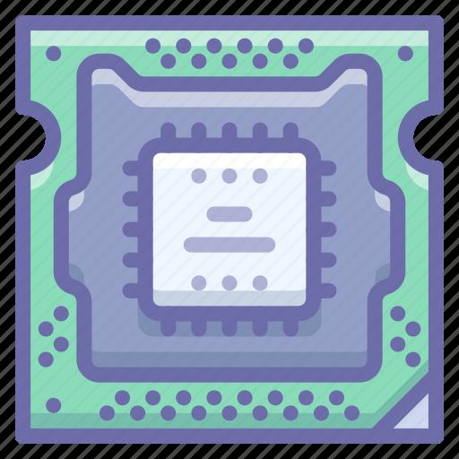 hardware, microchip, processor icon