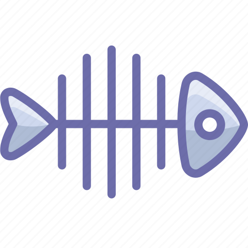 fish, fishbone, skeleton icon