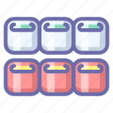 rolls, seafood, sushi icon