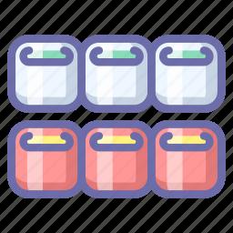 rolls, seafood, sushi icon