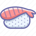 seafood, shrimp, sushi icon
