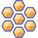 bees, honey, honeycomb icon
