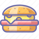 burger, cheeseburger, fastfood icon