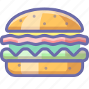 burger, fastfood, hamburger icon