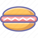 fastfood, hot dog icon