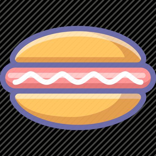 fastfood, hot dog icon
