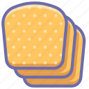 baking, bread, slices icon
