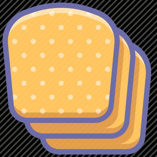 baking, bread, slices icon