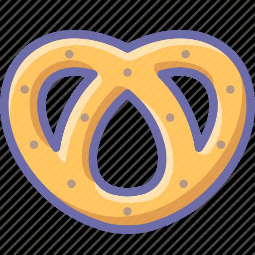 bagel, food, pretzel icon