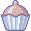 brownie, cake, cupcake icon