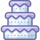 cake, dessert, wedding icon