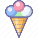 cream, food, ice, icecream, italian, sweet, wafer icon