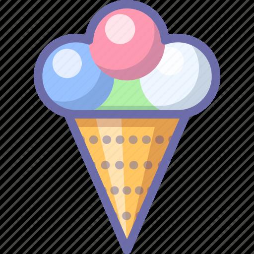 cream, food, ice, icecream, italian, sweet, wafer icon